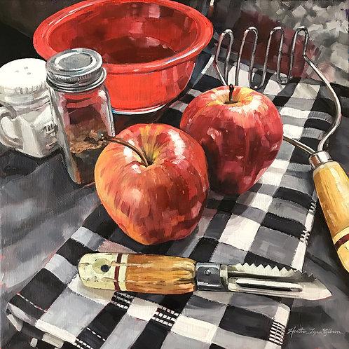 Applesauce (21x21 framed)
