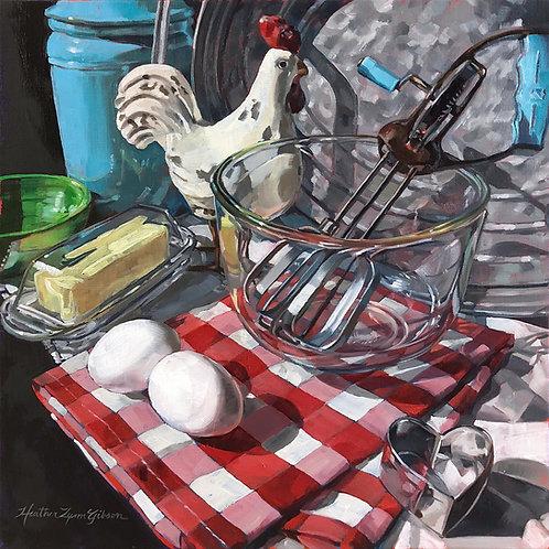Baking Morning 12x12 (20x20 framed)