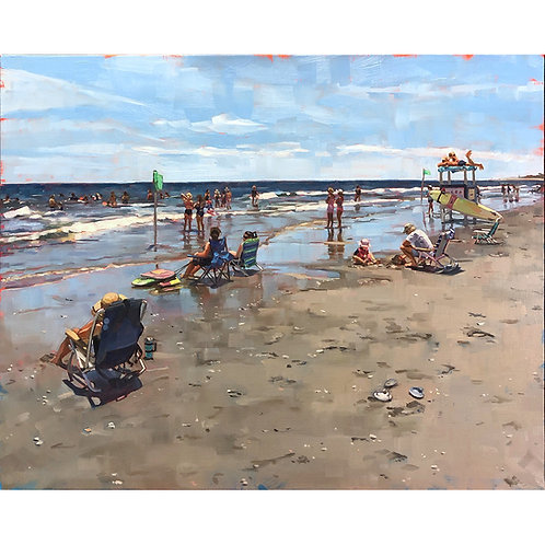 A Typical Day At The Beach (23x19 framed)