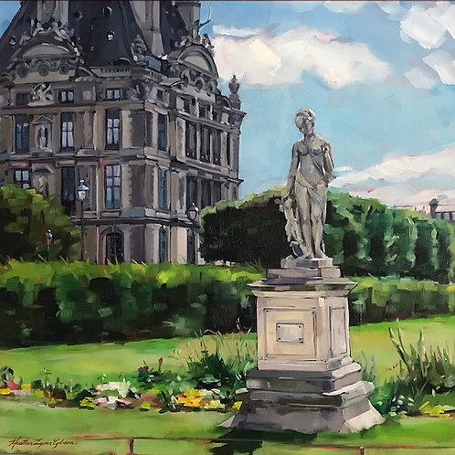 The Louvre And Diana 18x18 (21x21 framed)
