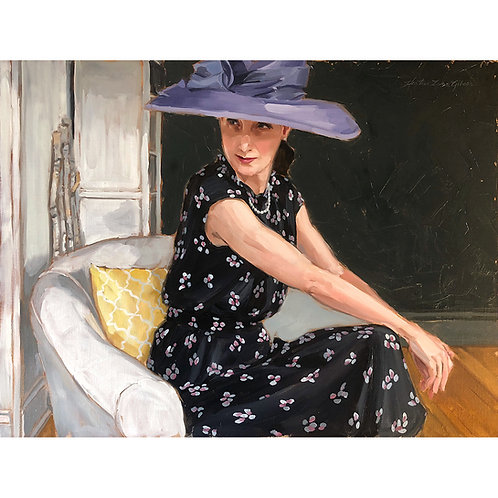 My Purple Hat 24x18 (28x22 framed size)