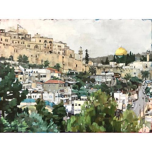 O Jerusalem 16x12 (24x20 framed)