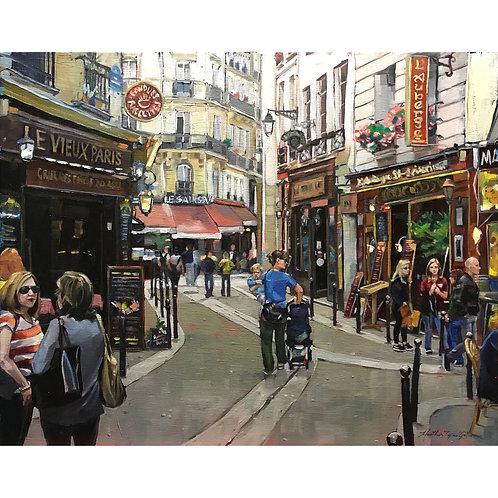 Le Vieux Paris 20x16 (28x24 framed)