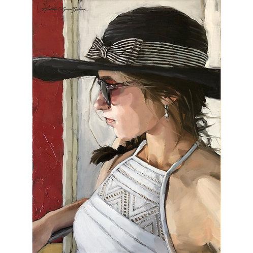Sun Hat & Sunglasses (12x16 canvas, 17x21 framed)