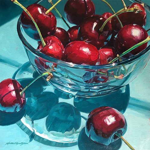 Life Is A Bowl Of Cherries 21x21 framed (18x18 canvas)