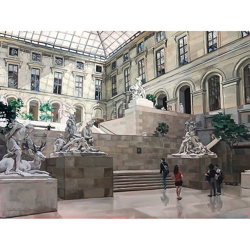 Louvre's Marble Courtyard (27x21 framed)