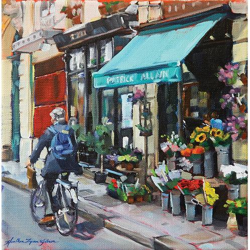 Patrick Allain Flowers 15x15 framed