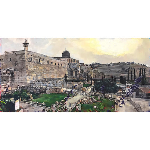 Western Wall To The Mount Of Olives (37 x 22 framed)