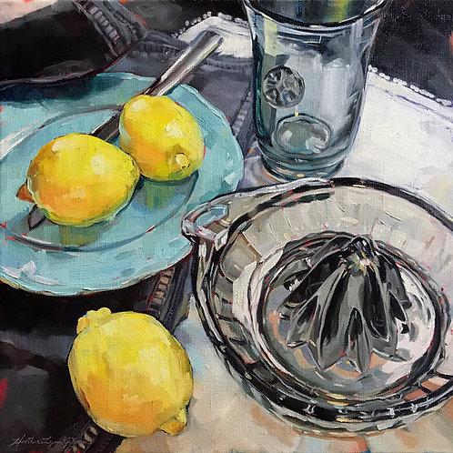 When Life Gives You Lemons 22 x 22 framed
