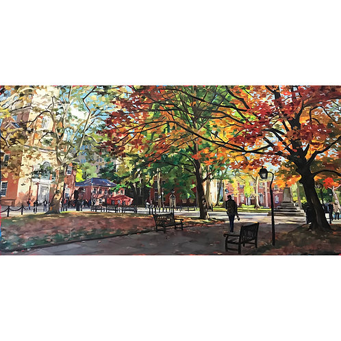 Independence Hall From The Trees' Shadows (30x15 canvas size)