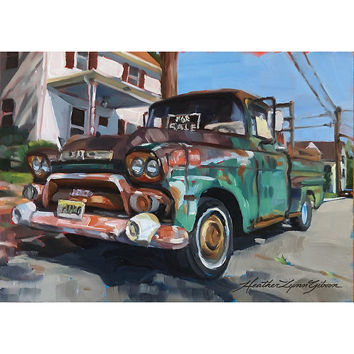 Old Truck For Sale (7x5 canvas 12x10 framed)
