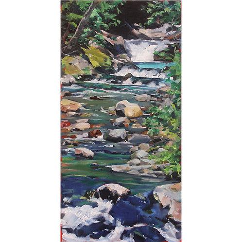 Glacial Stream (15x27 framed)
