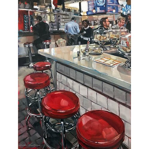 Open Stools For Shawarma (15x18 framed)