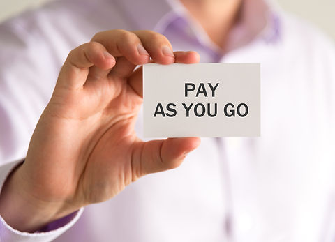 Closeup on businessman holding a card wi