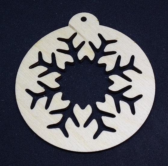 Snowflake B - Christmas Bauble