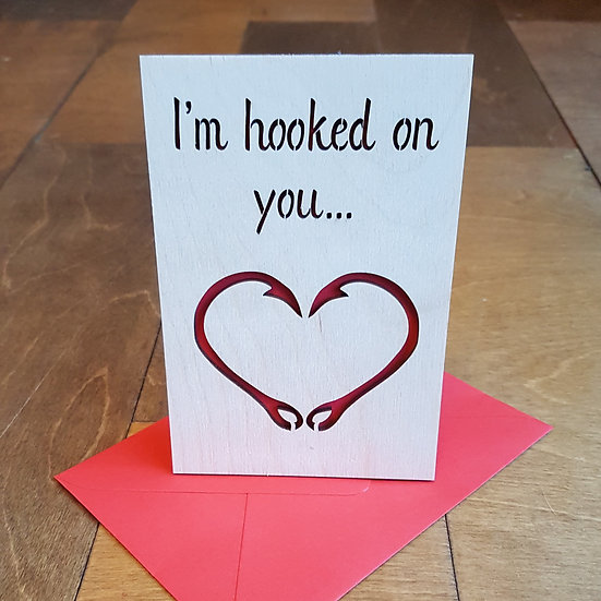 Valentines Card - Im Hooked On You