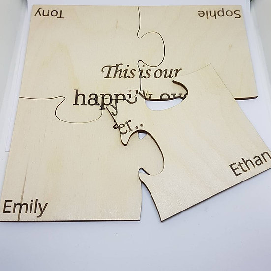 Happily Ever After- Puzzle Coasters - Birch Plywood 3mm