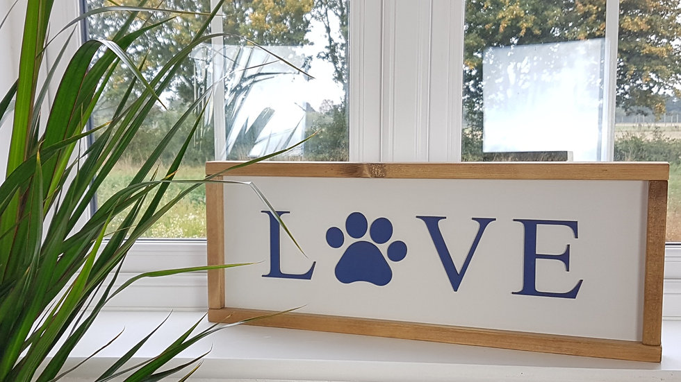 Love - Doggy framed Sign