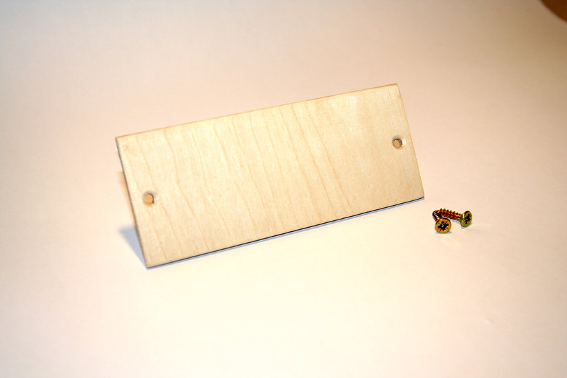 Name Plate - 4mm 2 Hole - Pack 5