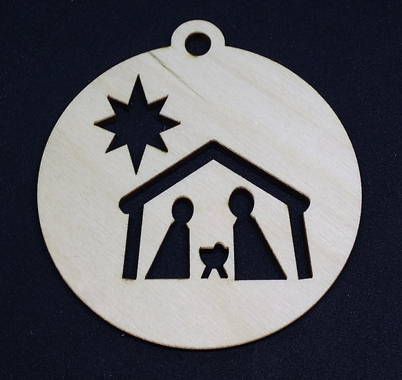 Nativity Scene - Christmas Bauble