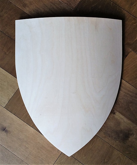 Large Curved Wooden Heater Shield Blank - Birch Plywood 520mm x 640mm x 12mm