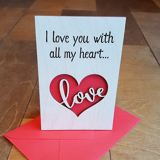 Valentines Card - Love Heart