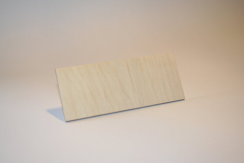 Name Plate - 4mm Blank - Pack 5