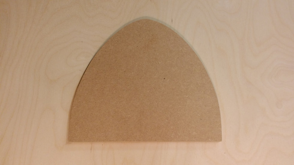 Fairy Door - 3mm Birch Plywood - Pyrography craft crafting birthday party