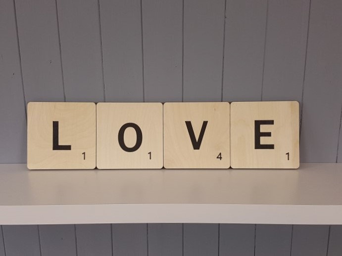 """Letter Wall Tiles - 150mm / 6"""" square"""