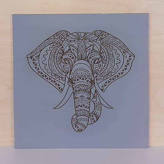 3D Wall Art - Elephant Head Mandala - TnW