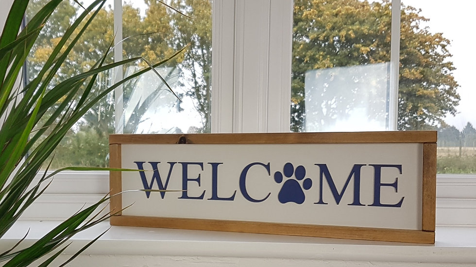 Welcome - Doggy framed Sign