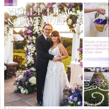 OceanCliff Wedding As Seen In: Bliss Celebrations Magazine