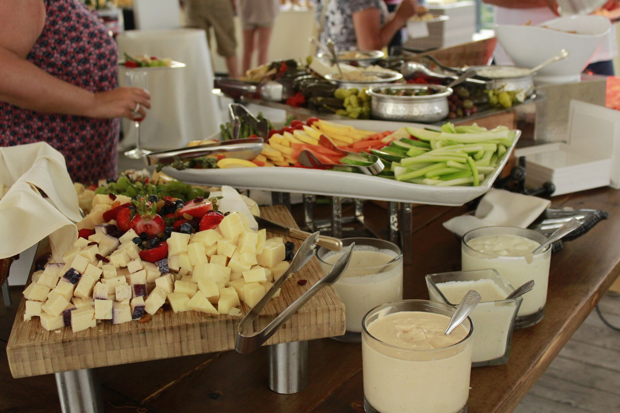 Enjoy hors d'oeuvres while shopping.