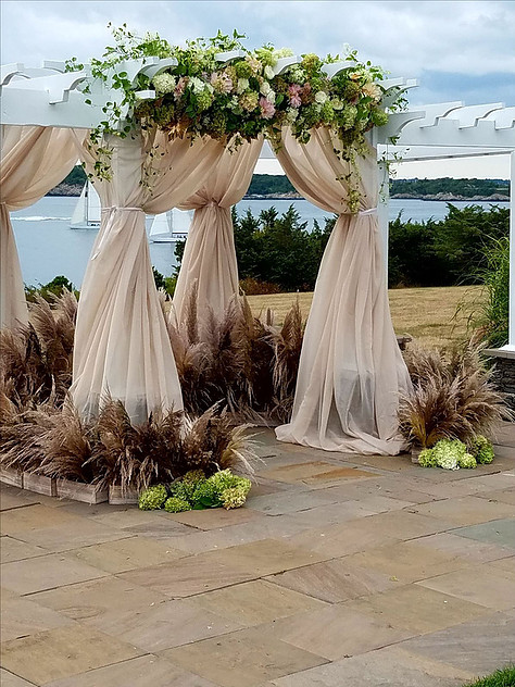 OceanCliff ceremony drapes