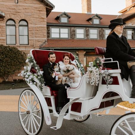 An elegant, vintage-inspired winter wedding in Newport, Rhode Island.
