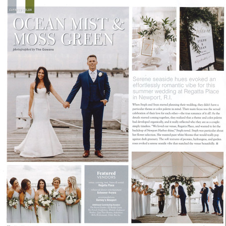 Regatta Place Wedding As Seen In: Bliss Celebrations Magazine