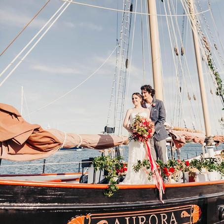 Styled Shoot: Sail into Love on Schooner Aurora