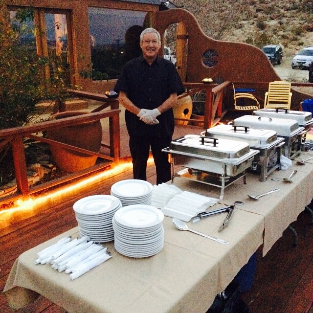 Bruce's Place Catering Set up