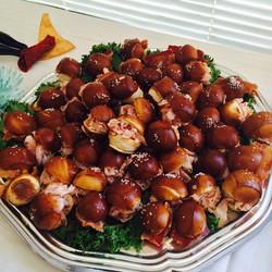 Meat Stuffed Pretzel Bites