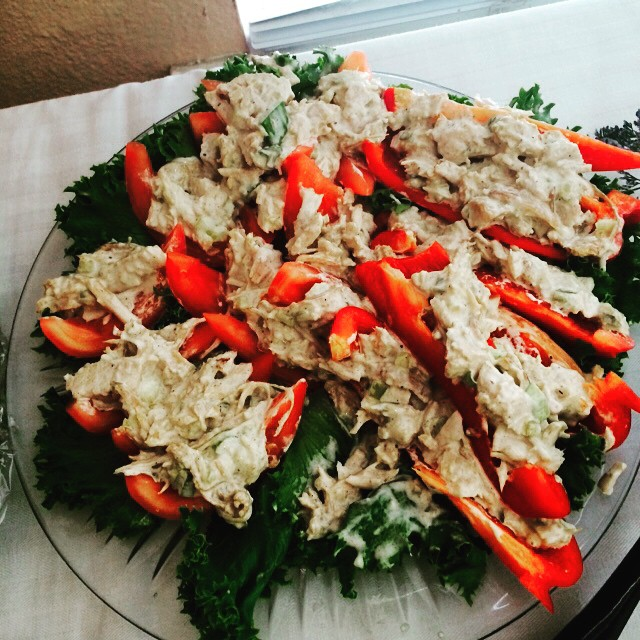 Fresh Tuna Salad and Bell Pepper