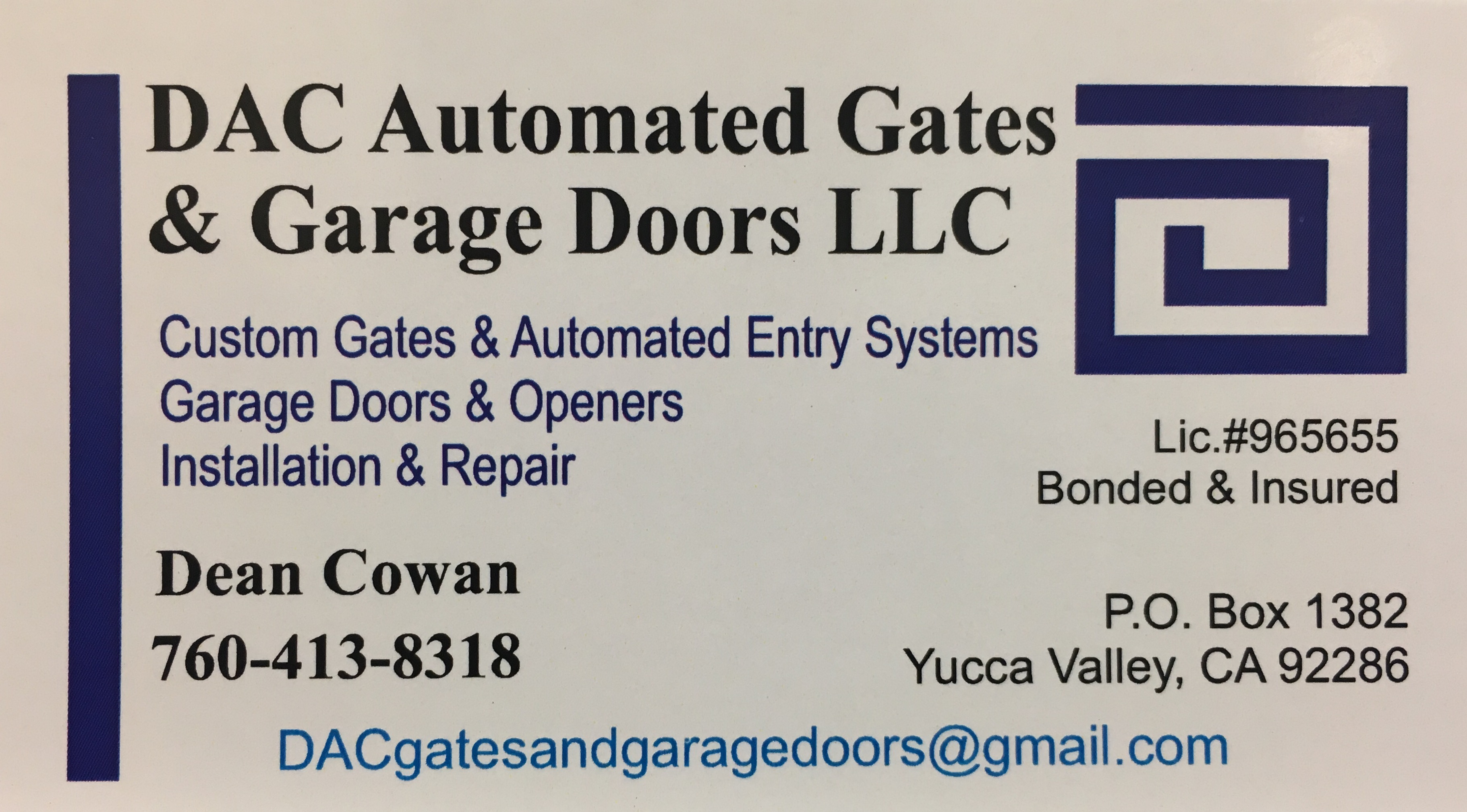 DAC Automated Gates & Garage Doors