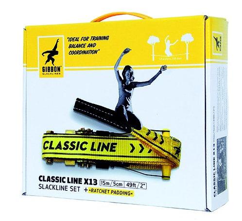 Slackline CLASSIC LINE X13 Tree Pro Set 15m