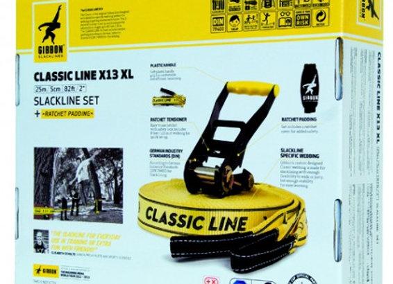 Slackline CLASSIC LINE X13 Tree Pro Set 25m