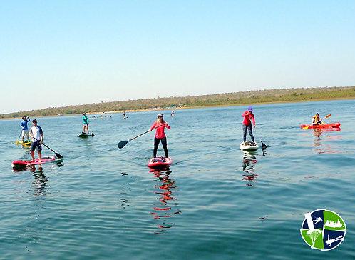 Travessia do Lago do Manso de Stand up Paddle