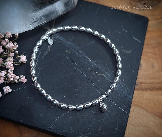 Silber Tropfen Armband