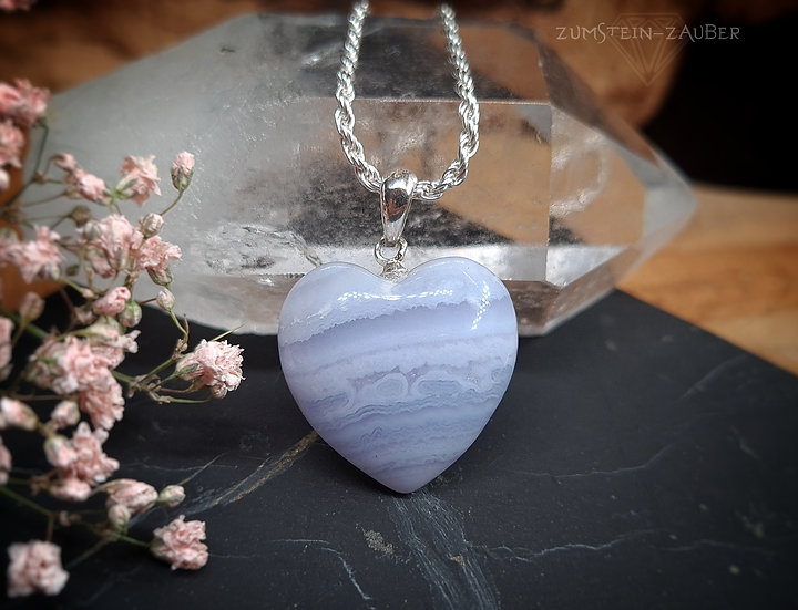 Chalcedon Herz Anhänger
