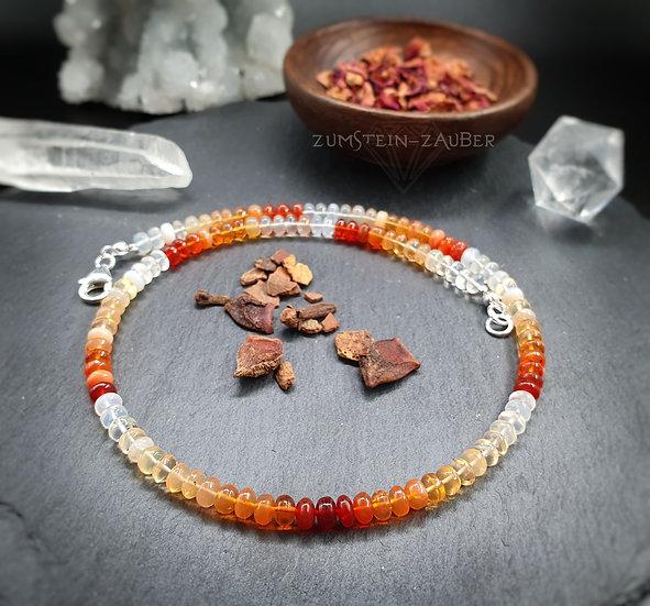 Feueropal Halskette