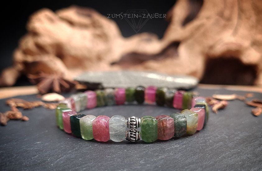 Turmalin Multicolor Armband