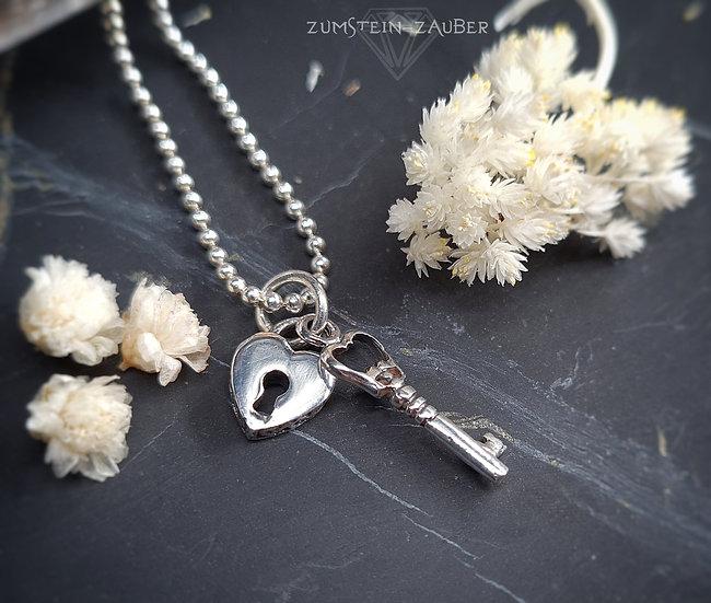 Herz mit Schlüssel Anhänger