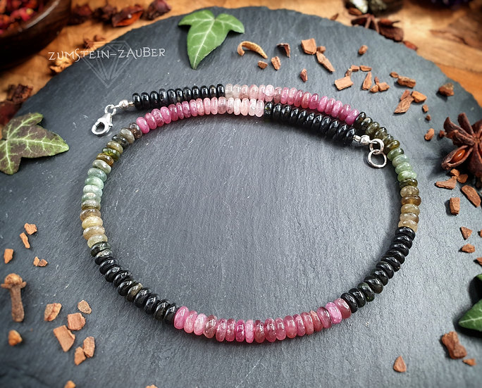 Turmalin Multicolor Halskette